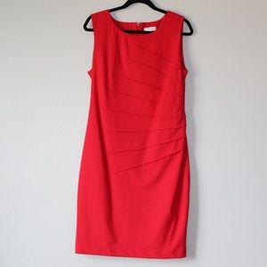 Calvin Klein Size 12 Red Dress